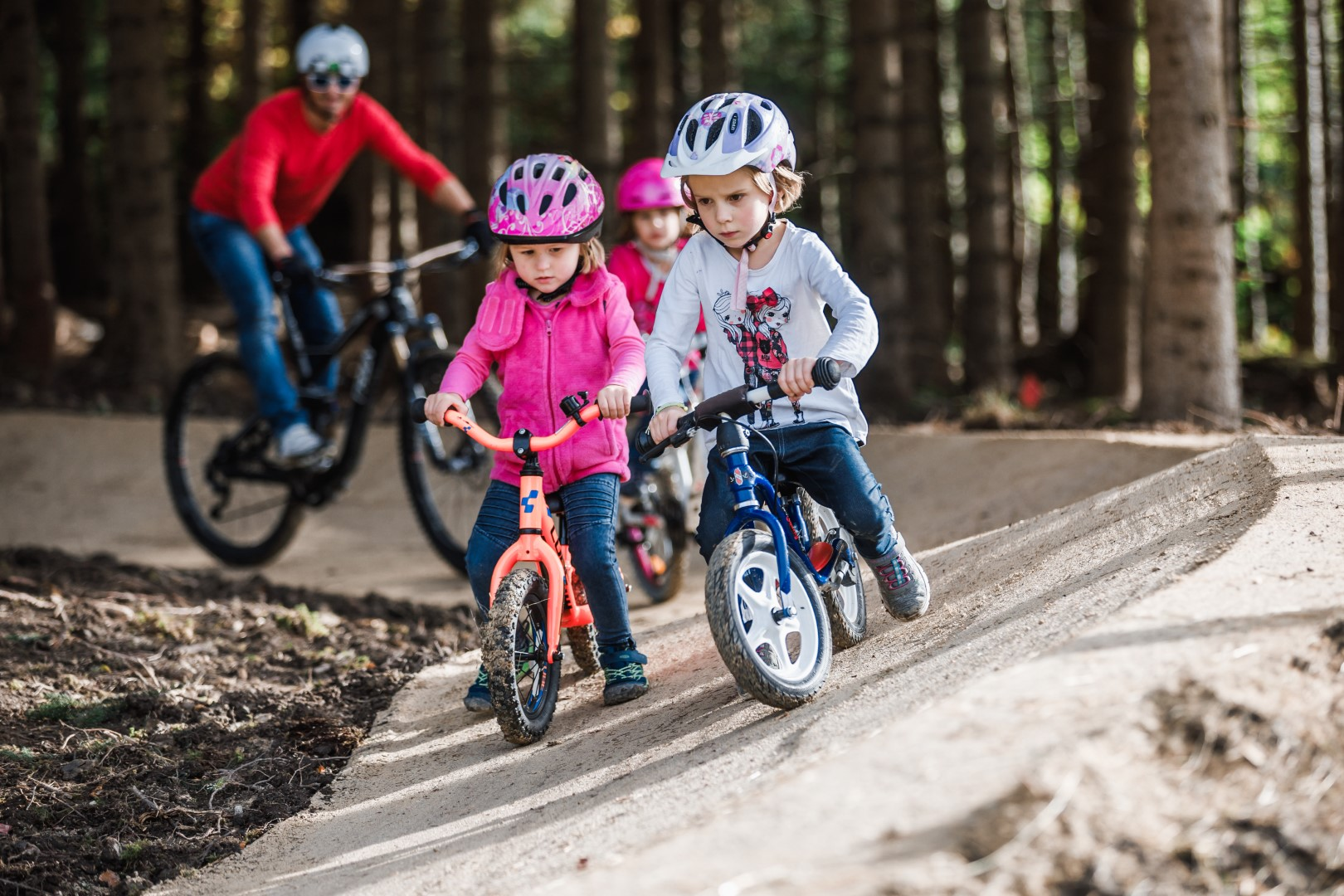 Ebenfalls sehr gut angenommen wird der Mini-Bikepark.
