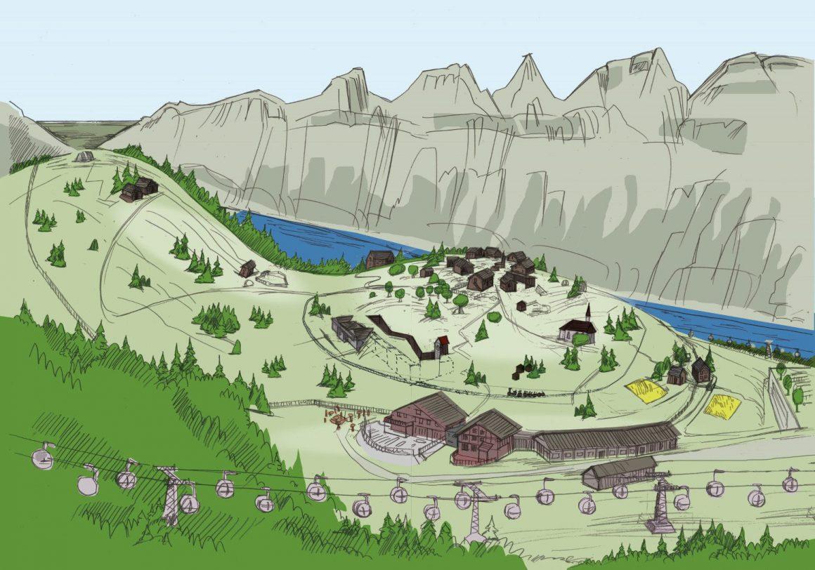 Das geplante Heidi Alperlebnis in ‧Tannenboden soll das Wander- und Skigebiet Flumserberg zu einer attraktiven Ganzjahres-Destination vor allem für Familien entwickeln.