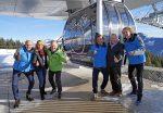 GP Ice Race Gondel wirbt für spektakuläres Eisrennen in Zell am See