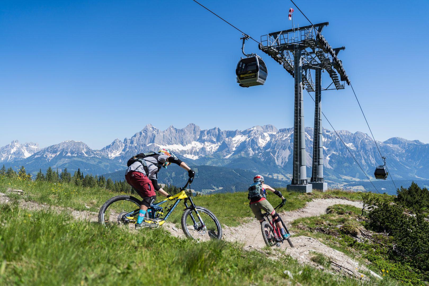 Bike Trails gibt es auf der Reiteralm in unterschiedlichen Schwierigkeitsgraden.