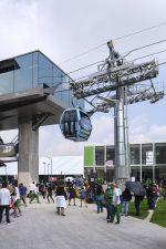 Doppelmayr-Seilbahn  Cablebús Línea 1 in Betrieb
